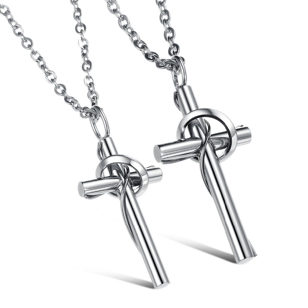 HOT rose Womens Men/'s Silver 316L Stainless Steel Titanium Pendant Necklace