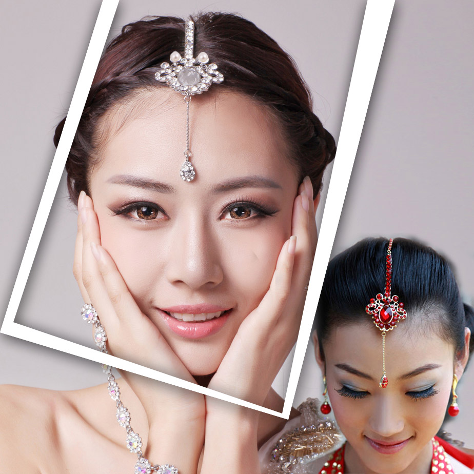 Shinning Bridal Jewelry Headpiece Hair Accessories eyebrows bohemia Indian belly dance hair wear JT142