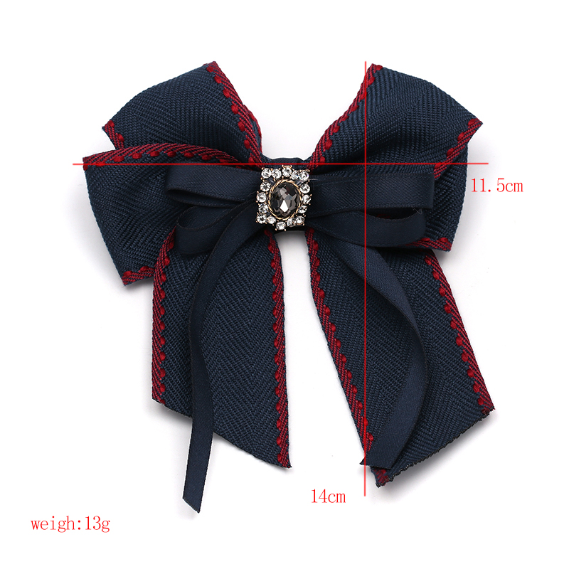 JUJIA Luxury Jewelry Bowknot Statement Red Crystal Tie Brooches For Women Cloth Bow Brooches Pins