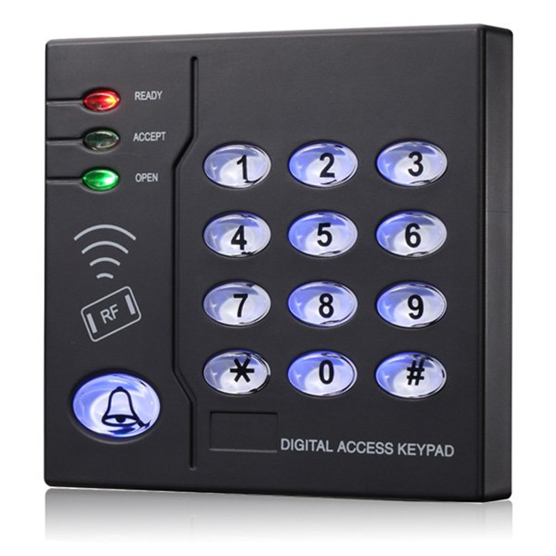 Keypad RFID 125Khz EM Card and Fingerprint entry lock Waterproof Standalone Access control system with Wiegand input mini access control keypad em card wiegand 26 output input with rfid keyfobs 125khz for door lock security system