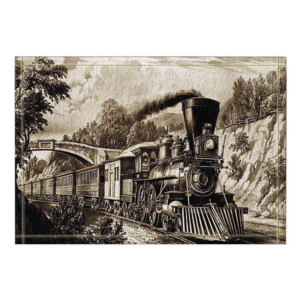 Steam Engine Antique Northren Express Train In Vintage