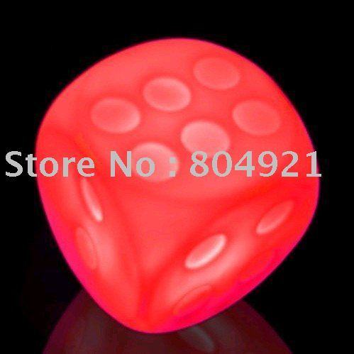 Free Shipping /20pcs/lot/Night Light Series - Night Light Colorful dice/new toy /hot seller
