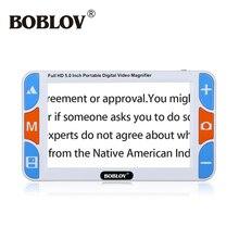 Boblov RS500S портативный 5 «3X-48X LCD 800×480 Видео Цифровая Лупа Чтение помощь для слабовидящих с дополнительной Бесплатная оригинальный аккумулятор