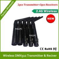 Бесплатная доставка DHL Высокое качество оптовая цена 2 4 GHZ XLR DMX512 беспроводной dmx512 для аккумуляторной батареи