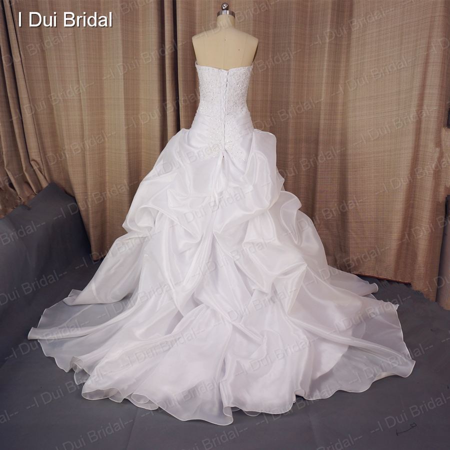 Princess Wedding Dresses Custom make Strapless Ball Gown Lace Beaded ...