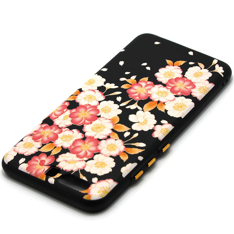 3D Relief flower silicone  case huawei p10 (23)