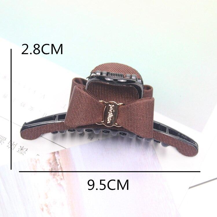 Korean Sweet Fabric Bow Hair Claw Elegant Women Solid Cloth Ties Banana Hair Crab Clips Ponytail Hold Girl Hair Accessories in Women 39 s Hair Accessories from Apparel Accessories
