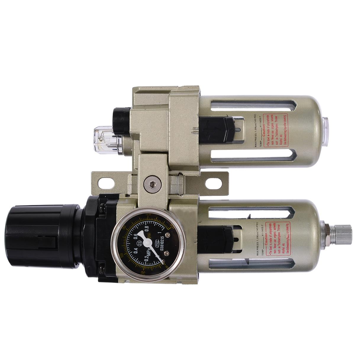 Прочный воздушный компрессор фильтр Регулятор датчик ловушка масла сепаратор воды Ловушка фильтр Регулятор Калибр Mayitr новое поступление