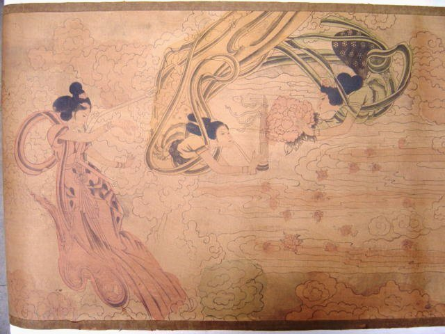 Dinastia Qing pictura chinezească, zana Dunhuang - Decoratiune interioara