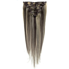 Best Sale Women Human Hair Clip In Hair Extensions 7pcs 70g 15inch Dark-brown + Gold-brown