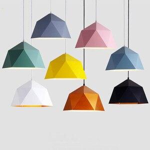 Image 3 - Pendant Lights Iron Pendant Lamp Minimalism Nordic Hanglamp Geometric Single Head For Restaurant Cafe Home Suspension Luminaire