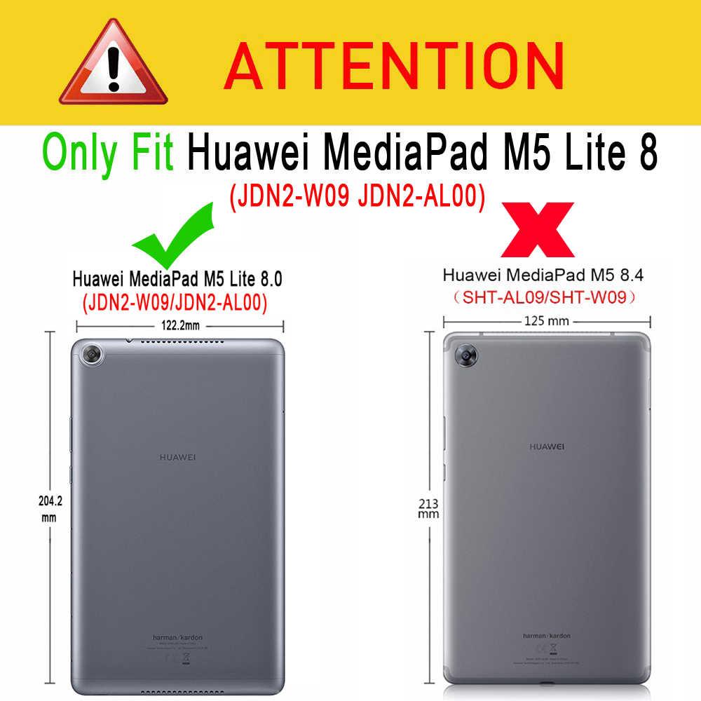 เป็นมิตรกับสิ่งแวดล้อมแท็บเล็ตซิลิคอนนุ่มสำหรับ Huawei MediaPad M5 Lite 8 8.0 JDN2-W09 JDN2-AL00 JDN2-L09 Funda