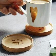 Criativo de madeira pata coaster bebida tigela isolamento térmico mesa chá almofada prática travesseiro jantar placemats da madeira macia 1 pc