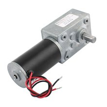 UXCELL DC 24V 100RPM 8mmx15mm Dual D-Shape Shaft Electric Power Turbo Worm Geared Motor Hot Sale