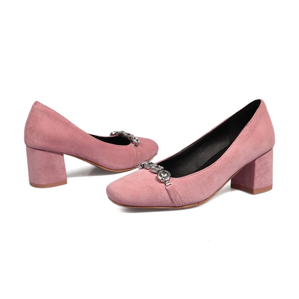 Casual Memunia Concise Zapatos Calidad Bombas rosado Tacones Otoño Gruesos Alta Toe Cuadrados Primavera Negro Moda Mujeres 11TxIqg