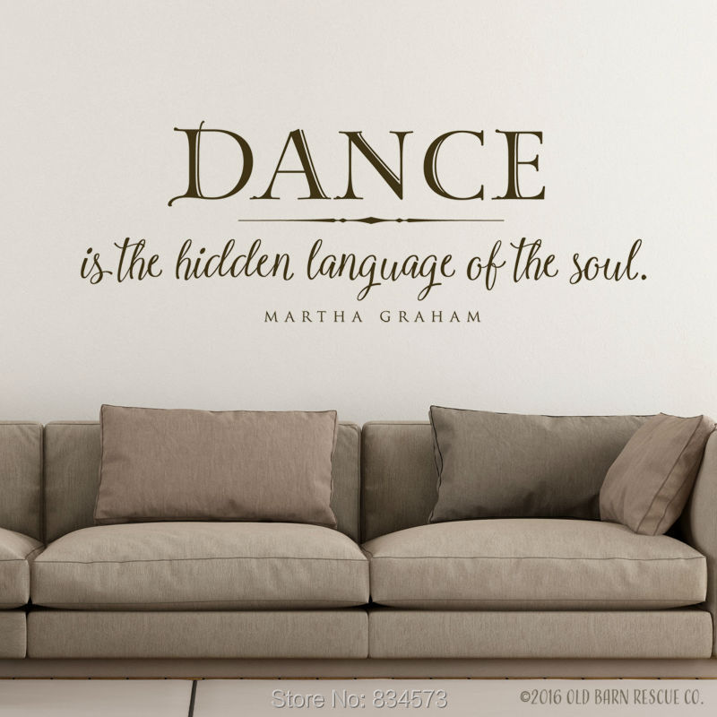 Dance is <font><b>the</b></font> <font><b>hidden</b></font> language <font><b>the</b></font> soul Wall Art Stickers Wall Decal Home DIY Decoration Wall Mural Room Decor Wall Stickers