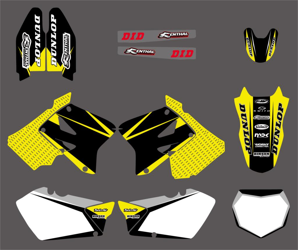 NICECNC Adhesive Decal Backgroud Sticker For Suzuki RM125 RM250 RM 125 250 2001-2012 Motorcycle Team Swingarm Fender Decals new style rockstar team decals stickers graphics backgrounds kits for suzuki rm125 rm250 2001 2010 2011 2012 rm 125 250