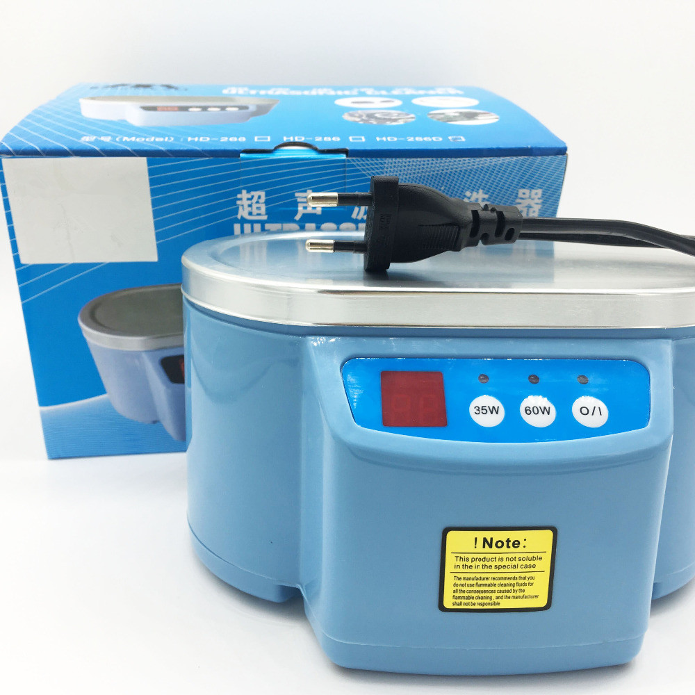 Image 5 - Hot 35W/60W 220V Mini Ultrasonic Cleaner Bath For Cleanning Jewelry Watch Glasses Circuit Board limpiador ultrasonico Bath EU-in Ultrasonic Cleaners from Home Appliances