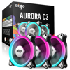 Aigo C3 3 Pack PC Computer Case Cooler Cooling RGB LED 120 Mm Low Noise High