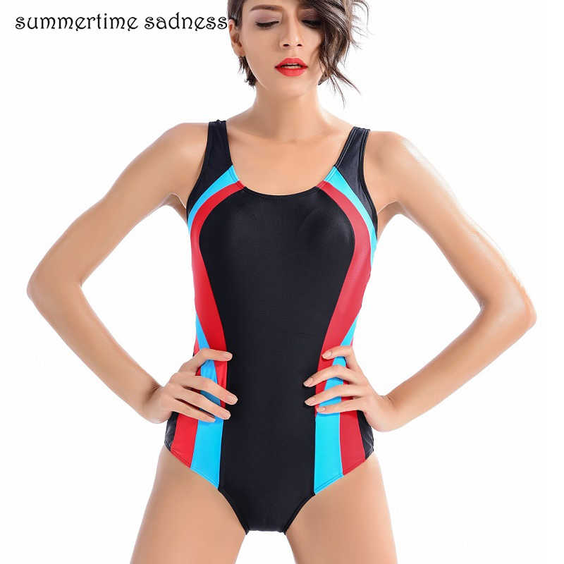 6163ca94da4ef Women New Summer Push Up One Piece Swimsuit Professional Sport Swimwear  Women Patchwork New Padded Plus