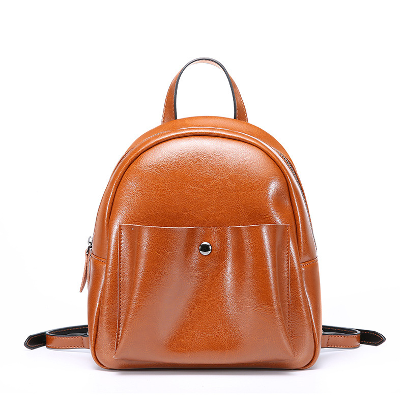 women backpack genuine leather school bags for teenager girls female preppy style small backpack mini shoulder bag female bamboo luminious shine 250