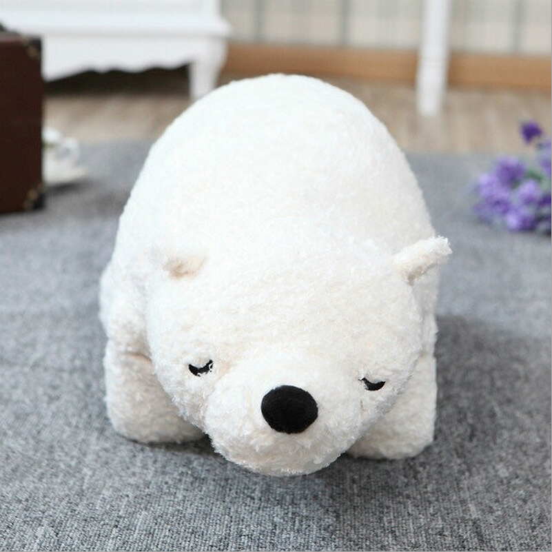 Big Size 1pc 70cm Japan Polar Bear Pillow Stuffed Plush Toys Simulation White Polar Bear Doll Children's Birthday gift big cute simulation polar bear toy handicraft lovely white polar bear doll gift about 31x18cm