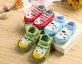 Niños Calcetines de Algodón Recién Nacido Ropa de Invierno de Dibujos Animados Lindo Bebé Calcetines Con Suela De Goma Niño Calcetines Meias Infantil Agradable
