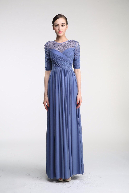 b504d5f43 a-5bz4ik-moda-vestido-de-noche-largo-espalda-medio-descubierto-gasa-sin- mangas-blusa-plisada