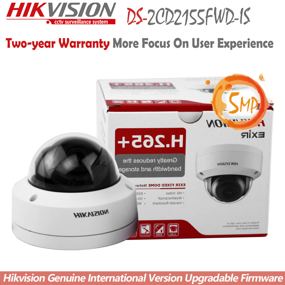 Hikvision DS 2CD2155FWD IS New Original English Version IP housing 5MP Dome IR Camera POE security