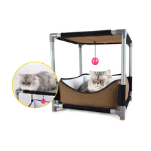 Jormel Pet Cat Jumping Toy Tree Platform Climbing Frame for Cats Double Climbing Frame Removable Cat Bed jungle gym toy set climbing stand platform for monkey