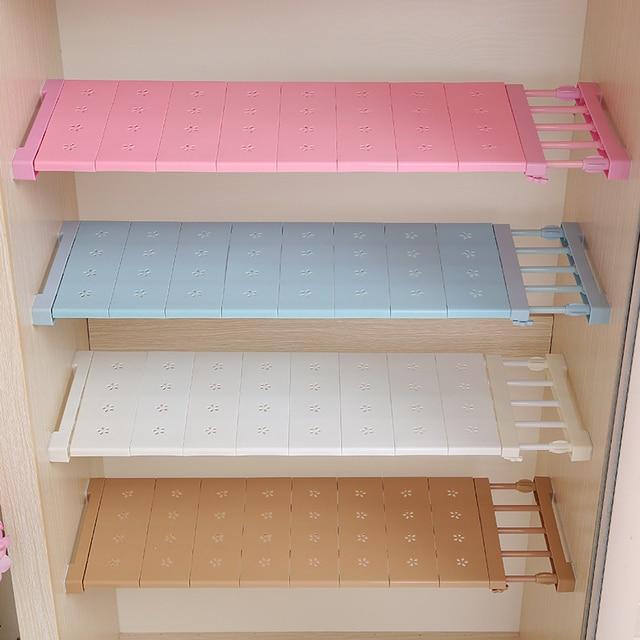 1PCS Wardrobe Storage Layered Separator Kitchen Free Nail Bathroom Shelving Scalable Partition Shelves kitchen Organizer Wardrob