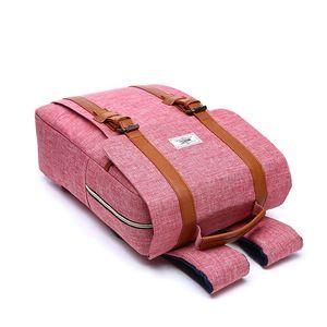 Image 2 - Femmes toile sac à dos décontracté sacs à dos femme 15 pouces sacs à dos dordinateur portable collège étudiant école sac à dos femmes Mochila