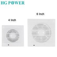 6 inch 220V Silent Ventilation Air Vents Ventilator Extractor Exhausted Extractor Fan Ventilator For Bathroom Kitchen  Toilet