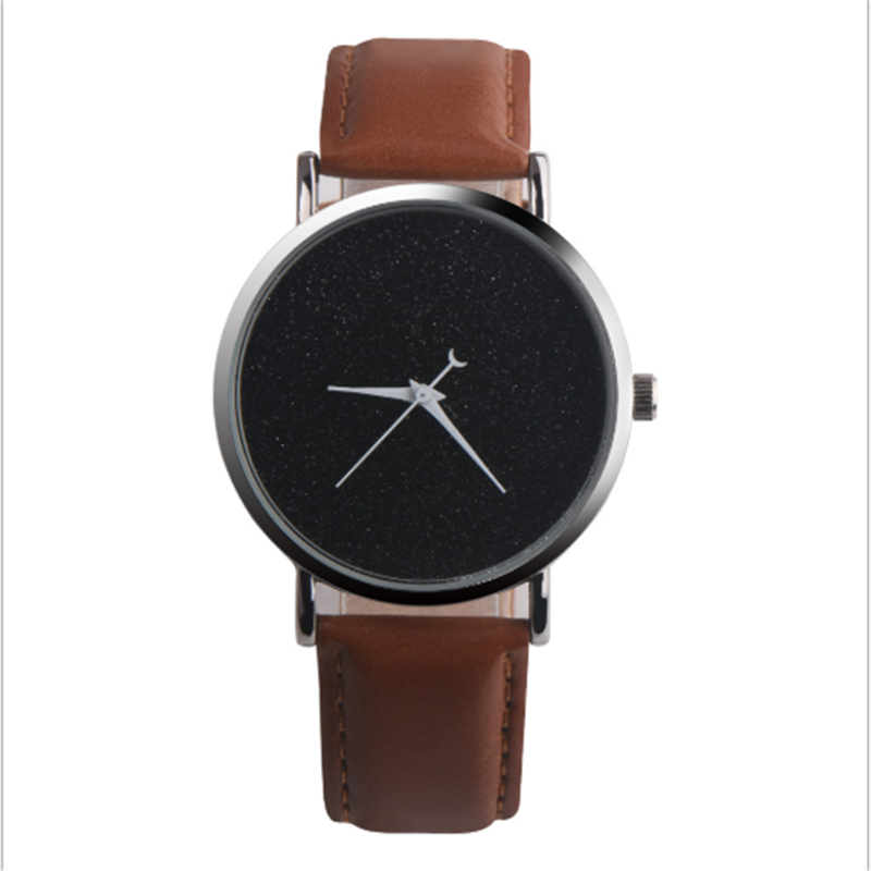 Dobroa 2019 Quartz Wristwatches Couple Watches Simple Crescent Romance Ladies Watch Valentine Gift Starry Sky Watch Men