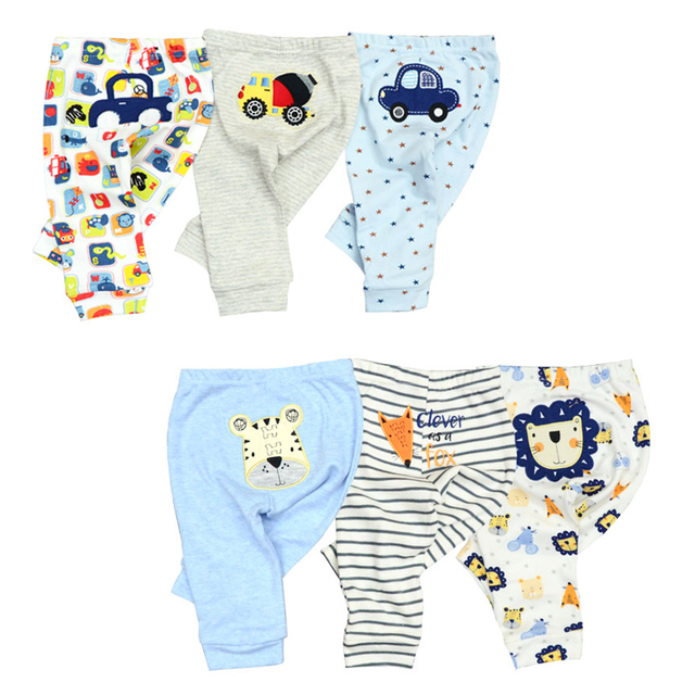 Wholesale 3/6pcs/Lot Baby Pants  Cotton Autumn Leggings for boys girls Mid Full Length Baby Trousers