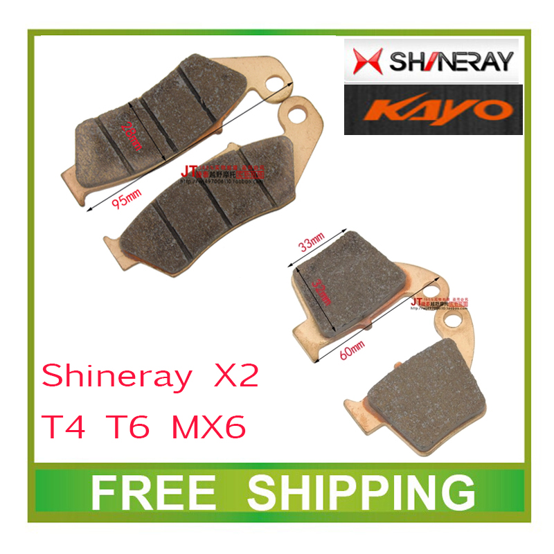 shineray x2 x2x 250cc zhenglin mx6 kayo t4 t6 off road motorcycle dirt pit bike front rear brake pads accessories free shipping