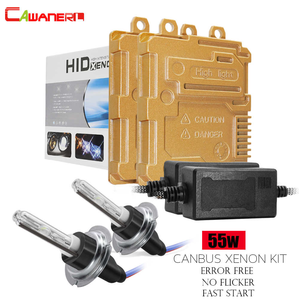 Cawanerl 55 W Canbus HID Xenon Light Kit Geen Fout Ballast + AC Lamp Quick Start Hoge Heldere Auto Koplamp h1 H3 H7 H11 9005 9006