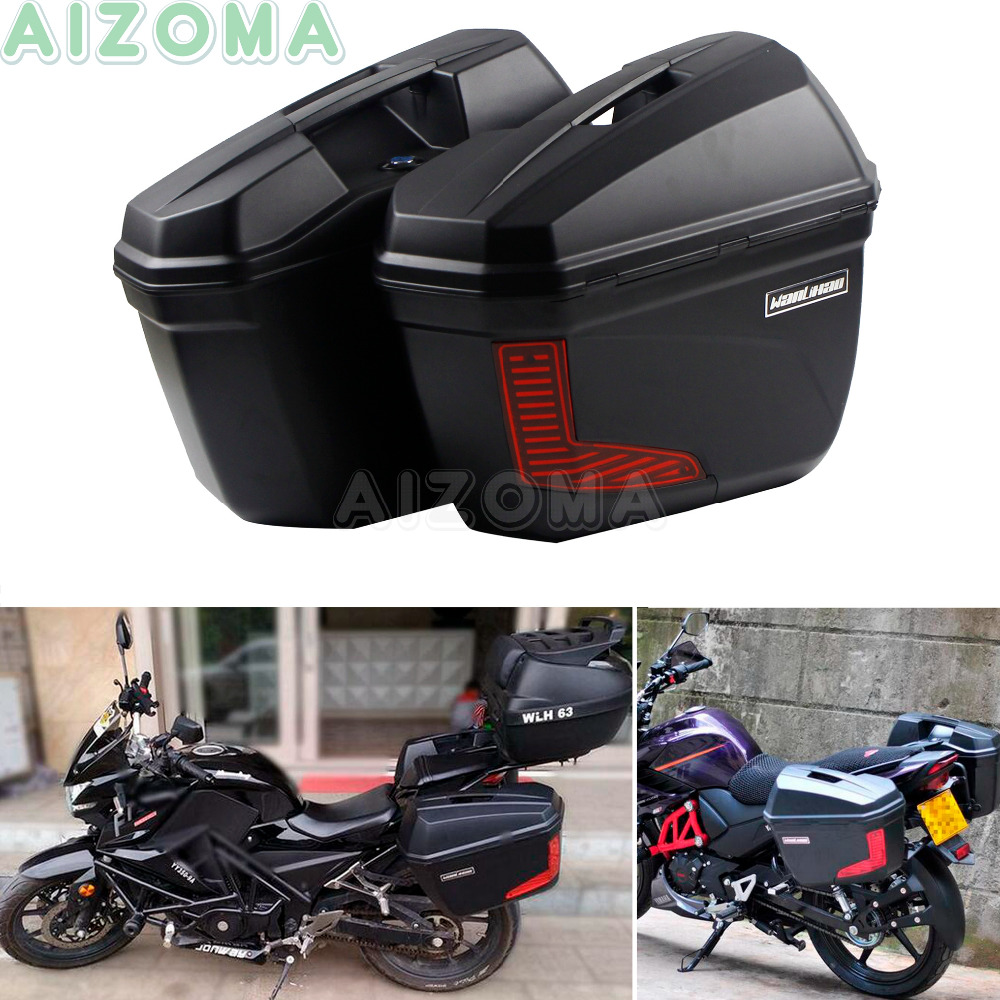 2x 23L Hard Side Box Motorcycle Sidecases Luggage Pannier Cargo Saddlebags For Triumph Suzuki Benelli Honda NC700X  NC 750X 750S кофры komine