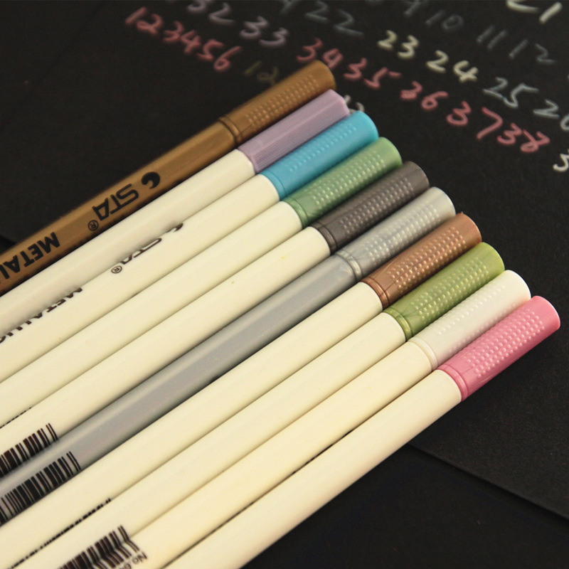 STA 6551 metal color marker Graffiti pen multicolor paint marker pen sharpie chacos Drawing mark pen эра sta 3000