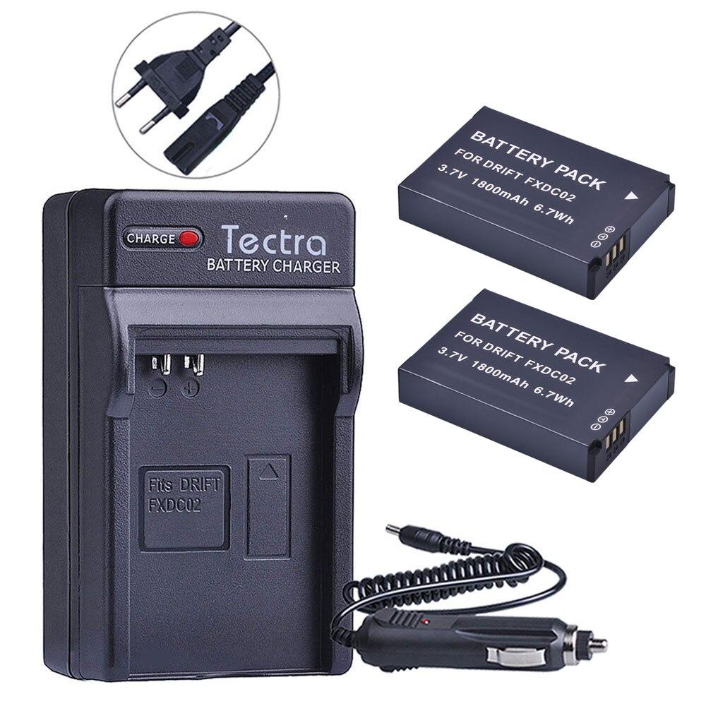 2 шт. 1800 мА/ч, FXDC02 Батарея + Цифровое зарядное устройство для дрифта 72 011 00 FXDC02 CFXDC02 HD Ghost S HD720 Батарея + автомобильный разъем