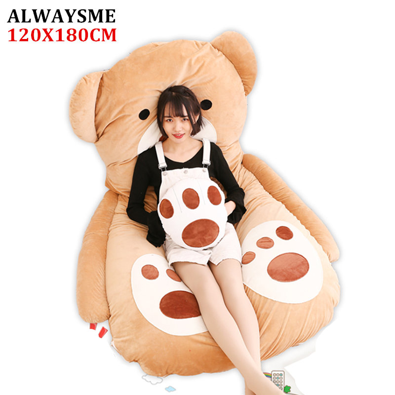 ALWAYSME 120x180CM Animal One Piece Design Lazy Animal Sofa Bed Cover Tatami Mats Without Filler Cotton Inside
