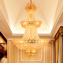 Фотография Modern Chandelier LED Lamps Crystal Chandeliers Lights Fixture Home Lighting Long Crystal Hanging Light AC90V-260V D100cm H150cm