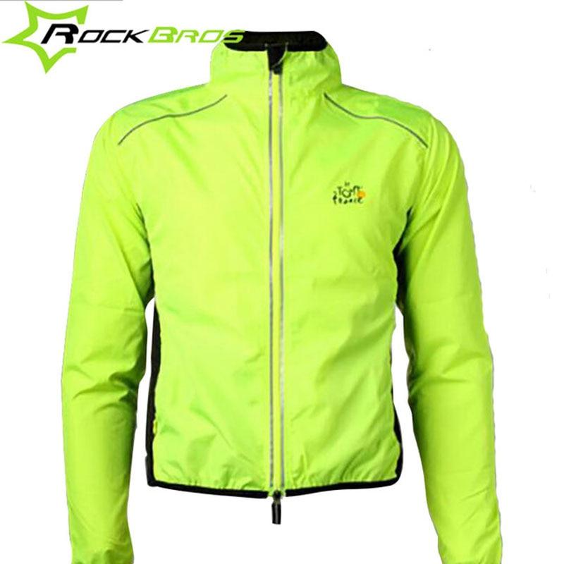 ROCKBROS Riteņbraukšanas jakas Atstarojošs velosipēds Velosipēdu jaka MTB Ceļu velosipēds Vēja necaurlaidīgs velosipēds lietusmētelis ūdensnecaurlaidīgs velosipēdu apģērbs