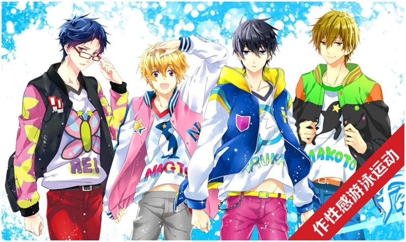 Anime Free! Iwatobi Swim Club Haruka Nanase Nagisa Hazuki Makoto Tachibana Rin Matsuoka Cosplay Jacket (3)