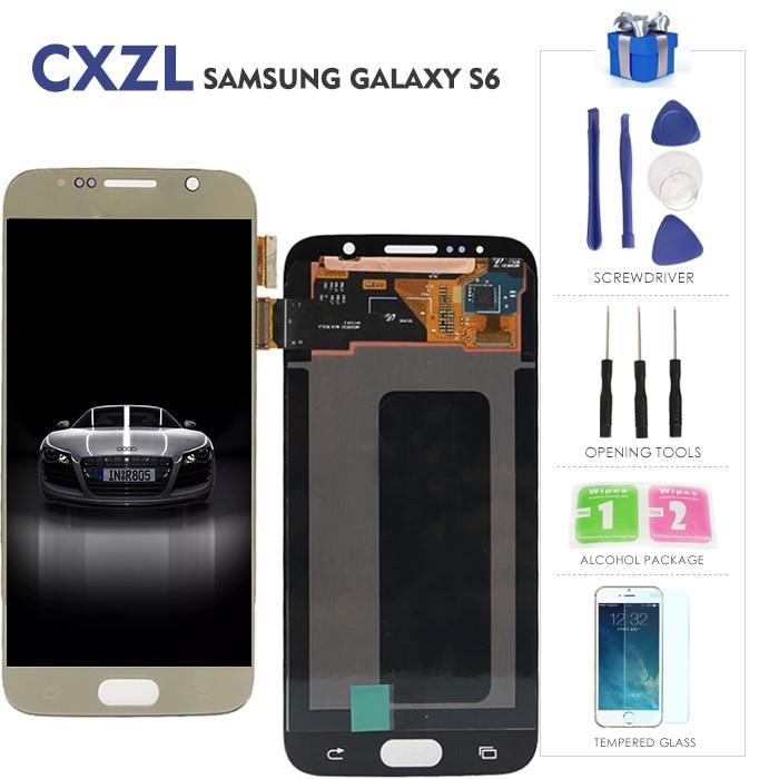 Cxzl LCD original For Samsung galaxy s6 display 5,1 pulgadas For Samsung S6 G920 SM-G920F G920F G920FD LCD pantalla CompletaCxzl LCD original For Samsung galaxy s6 display 5,1 pulgadas For Samsung S6 G920 SM-G920F G920F G920FD LCD pantalla Completa