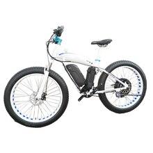 Заказной 26 дюймовый Электрический Снежный велосипед электровелосипед с толстыми покрышками 4,0 шин литий-ионный аккумулятор 48v1500w Максимальная скорость 70 км/ч внедорожный горный электровелосипед