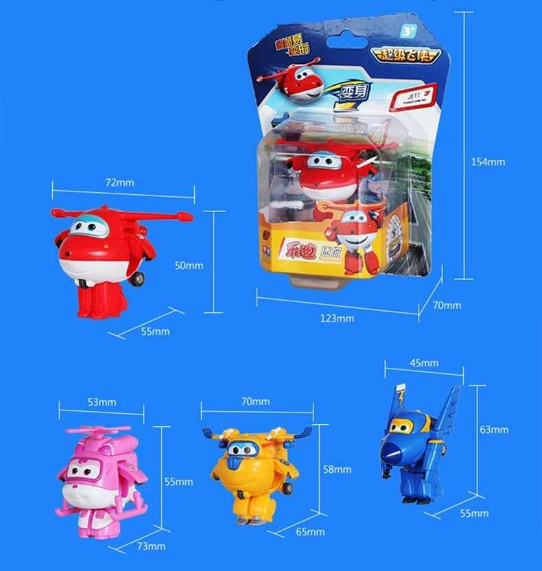 Super brinquedos Figuras de Ação Super Asa Asas de Avião Mini ABS Robô Transformação Jet Animação Brinquedos Do Presente Das Crianças Das Crianças
