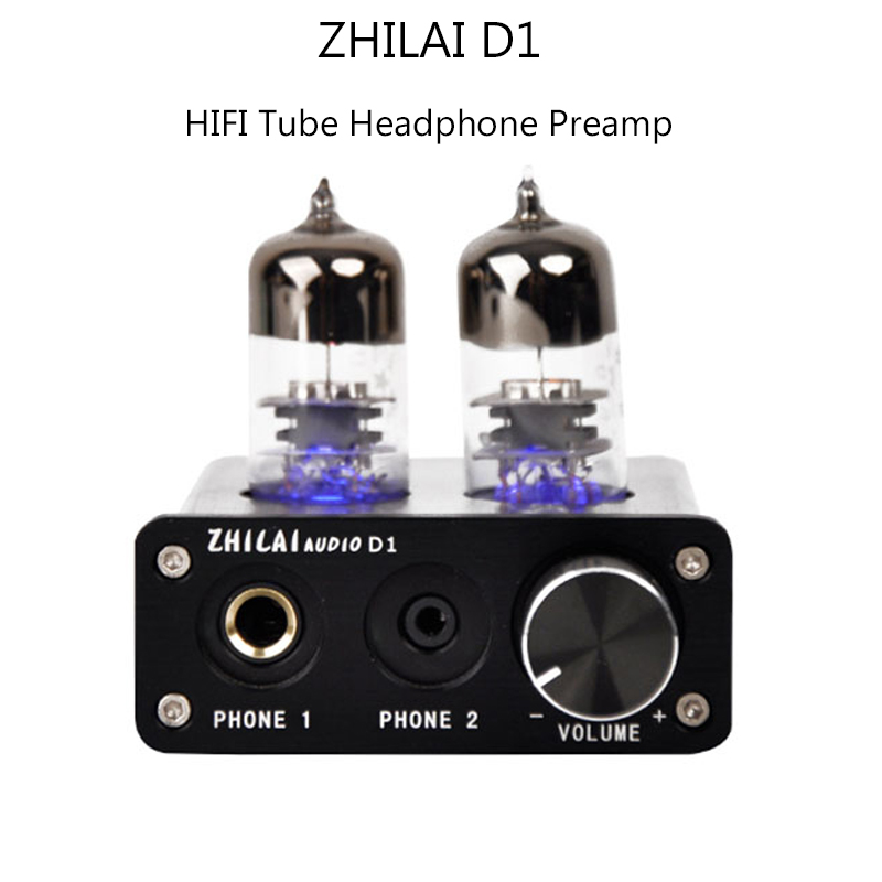 ФОТО 2017 ZHILAI D1 HIFI Headphone Amplifier 6J9-J tube amplifiUSB Audio Power Amplifiers USB Chip 7022 with Power Adapter Sound Card