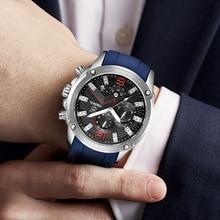 DIESSOL Men's Fashion Sports Quartz Top Brand Luxury Rubber Band Waterproof Business Watches