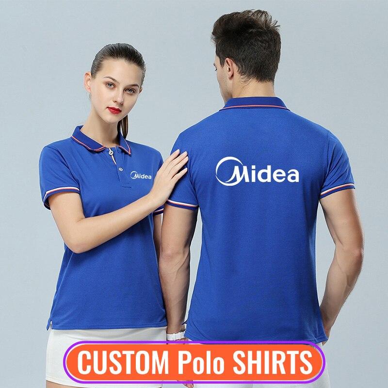 Fashion Men and Women   Polo   Shirts Make Custom Printing Free Design Your Own Shirts Customized Unisex Company Team Uniforms
